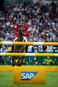 Germany, Aachen : Steve GUERDAT (SUI) riding VENARD DE CERISY  during the CHIO of Aachen, on July 18th , 2019, in Aachen, Germany - Photo Christophe Bricot