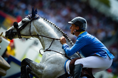 qGermany, Aachen : Christian Ahlmann (ger) riding Clintrexo Z during the Rolex Grand Prix, CHIO of Aachen, on July 21th , 2019, in Aachen, Germany - Photo Christophe Bricot