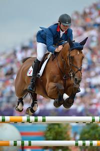 334 GUILLON Olivier sur LORD DE THEIZE - EQUITATION -  FINALE INDIVIDUELLE JUMPING - JEUX OLYMPIQUES DE LONDRES 2012 - OLYMPICS GAMES IN LONDON -  PHOTO : © CHRISTOPHE BRICOT