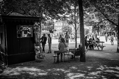 France, Paris : Luxembourg Garden, during the balade in August 1th , 2016, in Paris, France - Photo Christophe Bricot.