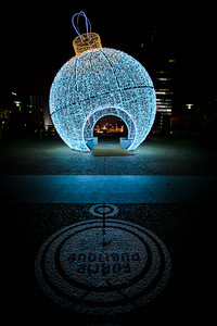 France, Courbevoie : ambiance of christmas in La Défense, near Paris, on December 11th , 2016, in Courbevoie, France - Photo Christophe Bricot
