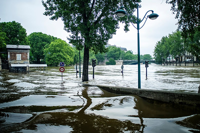 France, Paris : Flood of the Seine on June 4th , 2016, in Paris, France - Photo Christophe Bricot