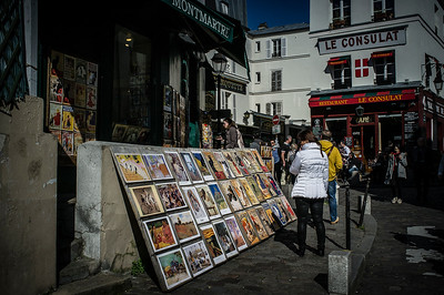 France, Paris :  Place du Tertre - Butte Montmartre, Sacré Cœur    on May 20th , 2015, in Paris, France - Photo Christophe Bricot