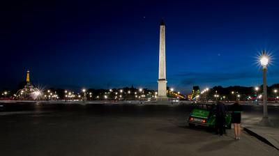 photo by night , Place de la Concorde