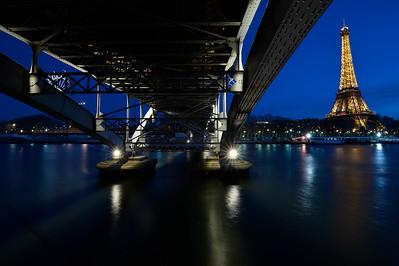 a walk along the Seine, Paris by Night, Eiffel tower