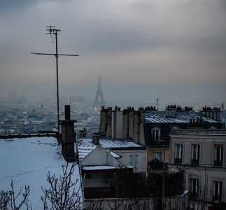 France, Paris : balade butte Montmartre, hiver , le 22 janvier 2019 - Photo Christophe Bricot
