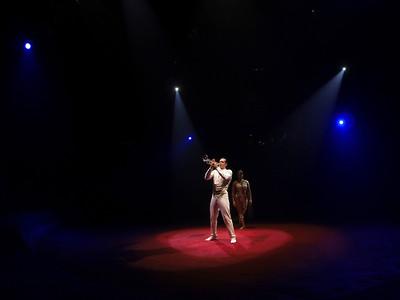 France, Bois de Boulogne : Silvia , nouveau spectacle au Cirque National Alexis Gruss - 40eme création - hommage à Silvia Monfort  - ROMANCE AERIENNE : NATHALIE ET STEPHAN GRUSS - Photo Christophe Bricot