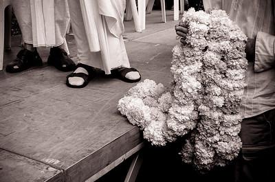 """France, Paris : Juillet 2004, défilé """"Hare Krishna Hare Rama"""" dans les rues de Paris, Place de la République. Reportage Archives - Fichiers D2H - Reportage © Christophe Bricot"""