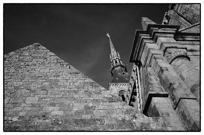 """Vacances dans la baie du Mont Saint-Michel Visite du Mont Saint-Michel et alentours  © Christophe Bricot  www.bricotchristophe.comMONT SAINT-MICHEL Reportage sur le Mont Saint-Michel vu côté """"touristes"""" Illustrations et paysage autour et dans le Mont. © CHRISTOPHE BRICOT"""