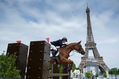France, Paris : Isabella Beecroft-Lockett riding Dahar,Paris Eiffel Jumping 2021, June 25th , 2021, in Paris, France - Photo Christophe Bricot