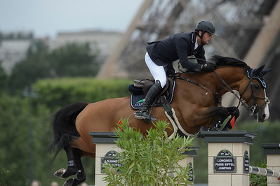 France, Paris : Billy Twomey riding Lady Lou , Le Figaro Scope, Paris Eiffel Jumping 2021, June 25th , 2021, in Paris, France - Photo Christophe Bricot