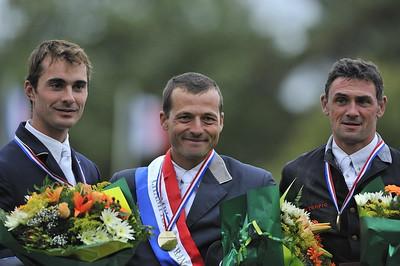 PODIUM (DGÀD) : DELMOTTE (2) - LAFOUGE (1) - HUREL (3)  Championnats de France 2008 PRO ELITE  © Christophe Bricot