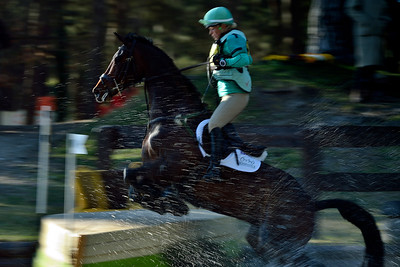 France, Fontainebleau :  ISABELLE IZZY TAYLOR RIDING ON KBIS STARLET  in the Cross Country phase of the Eventing competition of the Crazyride, CICO 3* eventing in Fontainebleau -  20140322 - Photo Christophe Bricot