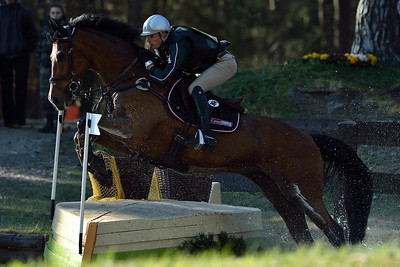 France, Fontainebleau :  DONATIEN SCHAULY RIDING ON CADIZ  in the Cross Country phase of the Eventing competition of the Crazyride, CICO 3* eventing in Fontainebleau -  20140322 - Photo Christophe Bricot