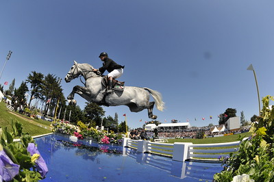 JUMPING : Nick SKELTON sur Carlo 273 GRAND PRIX DE LA VILLE DE LA BAULE -  CSIO DE LA BAULE 2012 - PHOTO : © CHRISTOPHE BRICOT