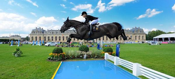 JUMPING : EDWINA TOPS ALEXANDER sur EGO VAN ORTI - GRAND PRIX DU GLOBAL CHAMPIONS TOUR 2012 - SAUT D'OBSTACLES - CSI5* DE CHANTILLY 2012 - PHOTO : © CHRISTOPHE BRICOT