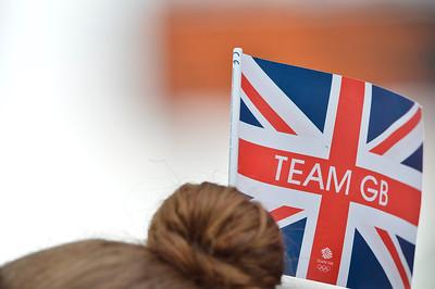 EQUITATION - DRAPEAU BRITANNIQUE SUR CHIGNON, ILLUSTRATION DRAPEAU, FLAG, UNION JACK, TEAM GB FINALE INDIVIDUELLE JUMPING - JEUX OLYMPIQUES DE LONDRES 2012 - OLYMPICS GAMES IN LONDON -  PHOTO : © CHRISTOPHE BRICOT