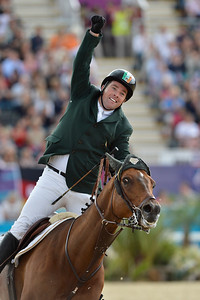 EQUITATION - 348 O'CONNOR Cian sur BLUE LOYD 12 - FINALE INDIVIDUELLE JUMPING - JEUX OLYMPIQUES DE LONDRES 2012 - OLYMPICS GAMES IN LONDON -  PHOTO : © CHRISTOPHE BRICOT