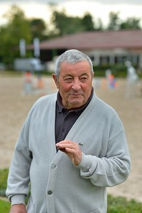 France, Barbizon : Father of Roger-Yves Bost at home for a photo shooting on october 8th, 2013 in Barbizon, Haras des Brulys. -  Photo Christophe Bricot