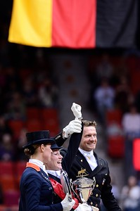 DRESSAGE, REEM ACRA FEI WORLD CUP™ DRESSAGE FINAL :  DAMON HILL NRW – HELEN LANGEHANENBERG (GER_ALL) REMPORTENT LA COUPE DU MONDE DE  DRESSAGE 2013 , DEUXIEME ADELINDE CORNELISSEN (NED).  ET TROISIEME EDWARD GAL (NED).  - GÖTEBORG - SUEDE, SWEDEN - GOTHENBURG HORSE SHOW - ROLEX FEI WORLD CUP™ FINAL - AND - REEM ACRA FEI WORLD CUP™ FINAL DRESSAGE - 24/28 AVRIL 2013 - PHOTO © CHRISTOPHE BRICOT