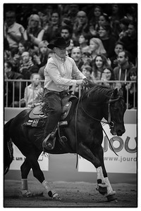 France, Chassieu :  Roger-Yves Bost during the reining International Competition of Equita Lyon, on October 29th , 2016, in Chassieu, France - Photo Christophe Bricot