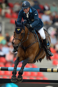 JUMPING : JENS FREDRICSON, LUNATIC - COMPETITION PAR EQUIPE,  Championnat d'Europe 2013 - HERNING , Danemark - 22/08/13 - PHOTO CHRISTOPHE BRICOT - www.bricotchristophe.com