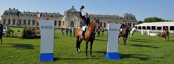 JUMPING : Patrice DELAVEAU (FRA). Carinjo 9 HDC   - GLOBAL CHAMPIONS TOUR CHANTILLY - CSI5* - 18 AU 21 JUILLET 2013 - © CHRISTOPHE BRICOT