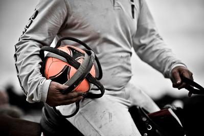 HORSEBALL : ILLUSTRATION, BALLE, BALLON DE HORSE BALL ET POIGNEES EN CUIR -  CHAMPIONNATS DE FRANCE HORSE BALL 2013 - HARAS DE JARDY, MARNE LA COQUETTE, France. (Photo Christophe Bricot)