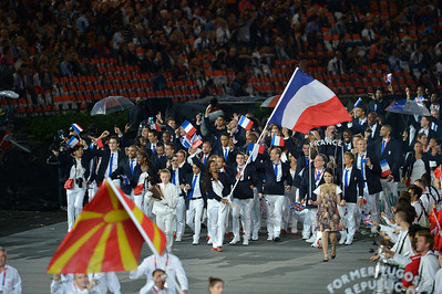 EQUITATION - LES EQUIPES DE FRANCE - CEREMONIE D'OUVERTURE DES JEUX OLYMPIQUES DE LONDRES 2012 - OLYMPICS GAMES OPENING CEREMONY IN LONDON -  PHOTO : © CHRISTOPHE BRICOT / ZABULON/POOL CNOSF