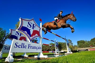 JUMPING MICHEL HECART ET QUATRIN DE LA ROQUE - CHAMPIONNAT DE FRANCE PRO ELITE 2012 - 30 SEPTEMBRE 2012 - FONTAINEBLEAU - © CHRISTOPHE BRICOT