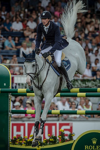 GERMANY, Aachen :  Daniel DEUSSER riding on Cornet d'Amour   during the Grand Prix of the World Equestrian Festival - CHIO of Aachen (Aix-la-Chapelle) July 11th to 20th, 2014 - 20/07/14 - Eventing - Photo Christophe Bricot.