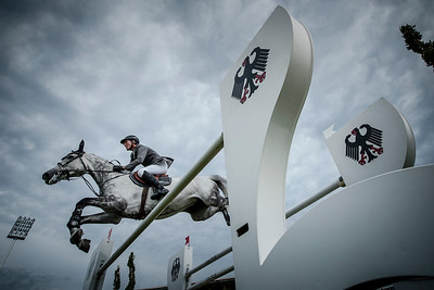 GERMANY, Aachen :  Ludger BEERBAUM riding on Chiara 222   during the Grand Prix of the World Equestrian Festival - CHIO of Aachen (Aix-la-Chapelle) July 11th to 20th, 2014 - 20/07/14 - Eventing - Photo Christophe Bricot.