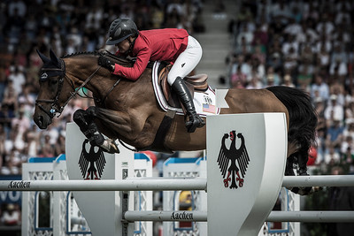 GERMANY, Aachen :  Lauren HOUGH riding on Ohlala   during the Grand Prix of the World Equestrian Festival - CHIO of Aachen (Aix-la-Chapelle) July 11th to 20th, 2014 - 20/07/14 - Eventing - Photo Christophe Bricot.