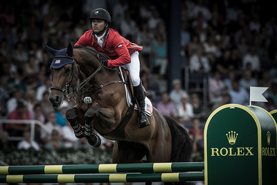 GERMANY, Aachen :  Kent FARRINGTON riding on Voyeur   during the Grand Prix of the World Equestrian Festival - CHIO of Aachen (Aix-la-Chapelle) July 11th to 20th, 2014 - 20/07/14 - Eventing - Photo Christophe Bricot.