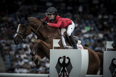 GERMANY, Aachen :  Lucy DAVIS riding on Barron    during the Grand Prix of the World Equestrian Festival - CHIO of Aachen (Aix-la-Chapelle) July 11th to 20th, 2014 - 20/07/14 - Eventing - Photo Christophe Bricot.