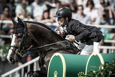 GERMANY, Aachen :  Marcus EHNING riding on Plot Blue   during the Grand Prix of the World Equestrian Festival - CHIO of Aachen (Aix-la-Chapelle) July 11th to 20th, 2014 - 20/07/14 - Eventing - Photo Christophe Bricot.