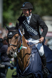 FRANCE, Le La Baule : ERIC LAMAZE RIDING ON POWERPLAY (WINNER)   during the GRAND PRIX LONGINES VILLE DE LA BAULE in the Jumping CSIO of France on May 15-18th, 2014,  in La Baule, France - 18/05/14 - Photo Christophe Bricot.  Information : Editorial use only - Please, Contact photographer. Utilisation presse uniquement, pour toutes autres utilisations, me contacter.