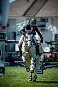 FRANCE, Le La Baule : PENELOPE LEPREVOST RIDING ON  DAME BLANCHE VAN ARENBERG  (FRA)  during the GRAND PRIX LONGINES VILLE DE LA BAULE in the Jumping CSIO of France on May 15-18th, 2014,  in La Baule, France - 18/05/14 - Photo Christophe Bricot.  Information : Editorial use only - Please, Contact photographer. Utilisation presse uniquement, pour toutes autres utilisations, me contacter.
