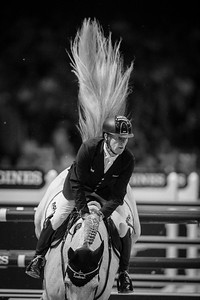 France, Lyon :  Marcus EHNING riding on Cornado NRW  in action during the Longines FEI World Cup™ Grand Prix presented by GL Events in Lyon on November 2th, 2014 - Photo Christophe Bricot