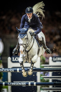 France, Lyon :  Daniel DEUSSER riding on Cornet d'Amour  in action during the Longines FEI World Cup™ Grand Prix presented by GL Events in Lyon on November 2th, 2014 - Photo Christophe Bricot