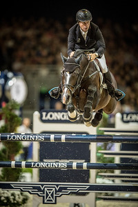 France, Lyon :  Rolf-Goran BENGTSSON (SWE) riding on Casall Ask   in action during the Longines FEI World Cup™ Grand Prix presented by GL Events in Lyon on November 2th, 2014 - Photo Christophe Bricot