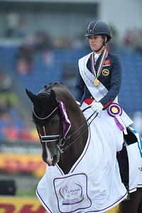 during THE GRAND PRIX - KÜR  of the European Championships Aachen 2015