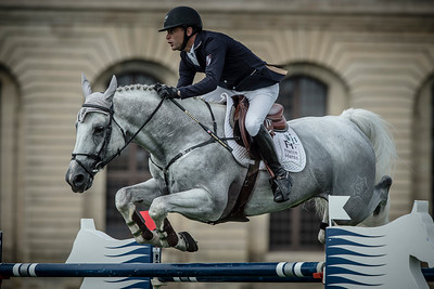 FRANCE, Chantilly :  Timothee ANCIAUME riding on Padock du Plessis*HN  during the Grand Prix of the Longines Global Champions Tour in Chantilly, July 25th to 27th, 2014 - 26/07/14 - Photo Christophe Bricot.