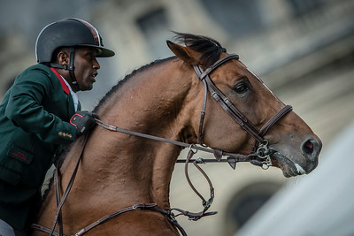 FRANCE, Chantilly :  Abdelkebir OUADDAR riding on Quickly de Kreisker   during the Grand Prix of the Longines Global Champions Tour in Chantilly, July 25th to 27th, 2014 - 26/07/14 - Photo Christophe Bricot.