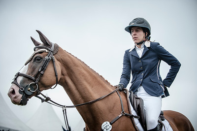 FRANCE, Chantilly :  Louise Rochefort riding on Cartouche   during the Grand Prix of the Longines Global Champions Tour in Chantilly, July 25th to 27th, 2014 - 26/07/14 - Photo Christophe Bricot.