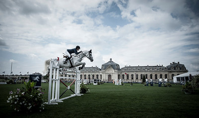FRANCE, Chantilly :  Athina ONASSIS-DE MIRANDA riding on AD Camille Z  during the Grand Prix of the Longines Global Champions Tour in Chantilly, July 25th to 27th, 2014 - 26/07/14 - Photo Christophe Bricot.