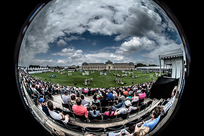 FRANCE, Chantilly :  wide angle view of the grass runway Meautry  during the Grand Prix of the Longines Global Champions Tour in Chantilly, July 25th to 27th, 2014 - 26/07/14 - Photo Christophe Bricot.