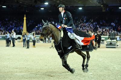 Patrice Delaveau sur Lacrimoso 3 HDC   during the Longines Grand Prix 2015, Longines Paris Masters