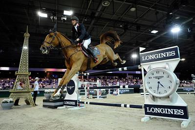 Kevin Staut sur Qurack de Falaise HDC during the Longines Grand Prix 2015, Longines Paris Masters