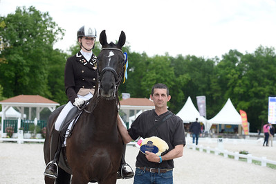 "France, Compiègne :Prize giving ceremony of JUNIOR   during the ""Grand Prix de la Ville de Compiègne"", FEI Nations Cup competition of the CDIO5* of Compiègne on May 21th , 2016, in Compiègne, France - Photo Christophe Bricot"